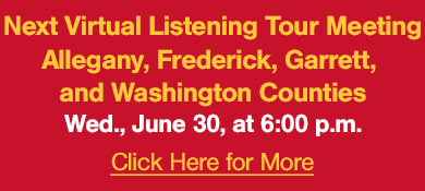 Virtual Listing Session for Western Maryland, June 30, 2021